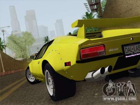 De Tomaso Pantera GT4 for GTA San Andreas inner view