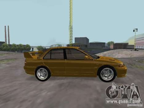 Mitsubishi Lancer Evolution III for GTA San Andreas left view