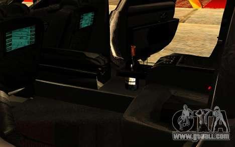 Maybach 62 for GTA San Andreas interior