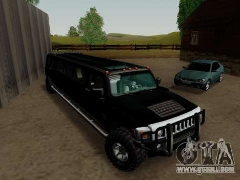 Hummer H3 Limousine for GTA San Andreas right view