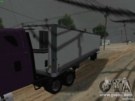 The semitrailer to the Freightliner Cascadia for GTA San Andreas left view
