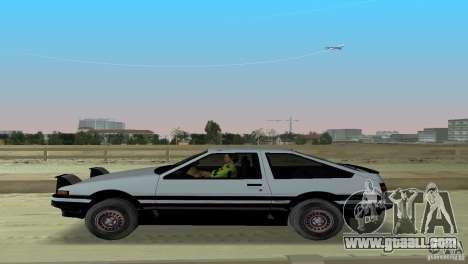 Toyota Trueno Sprinter for GTA Vice City back view