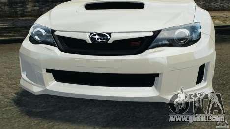 Subaru Impreza WRX STi 2011 G4S Estonia for GTA 4 wheels