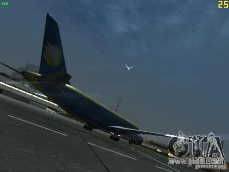 Boeing 767-300 AeroSvit Ukrainian Airlines for GTA San Andreas right view