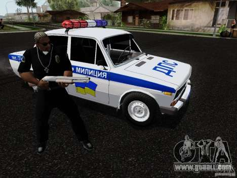 VAZ 2106 Police for GTA San Andreas side view