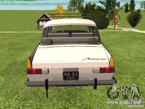 AZLK 412 for GTA San Andreas right view