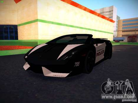 Lamborghini Gallardo LP570-4 Spyder Performante for GTA San Andreas inner view