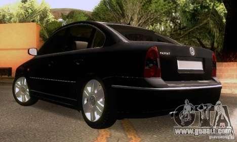 Volkswagen Passat B5+ for GTA San Andreas upper view