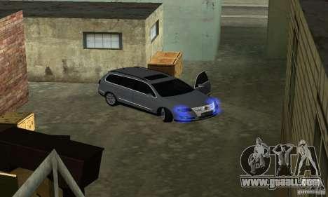 Volkswagen Passat B6 Variant for GTA San Andreas inner view