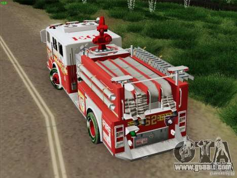 Seagrave Marauder II Engine 62 SFFD for GTA San Andreas right view