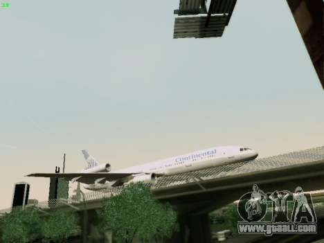 McDonell Douglas DC-10-30 Continental for GTA San Andreas right view