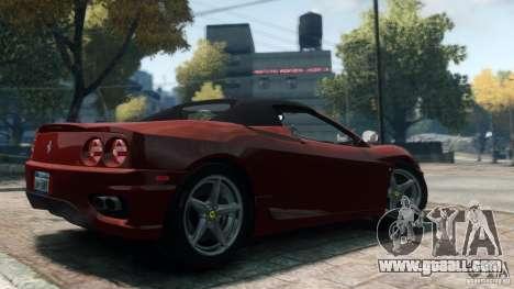 Ferrari 360 Spider 2000 for GTA 4 left view
