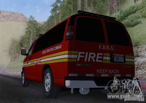 Chevrolet Express Special Operations Command for GTA San Andreas inner view