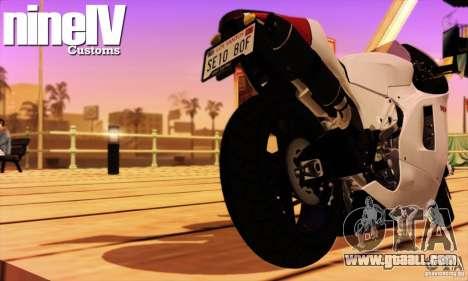 Ducati Desmosedici RR 2012 for GTA San Andreas right view