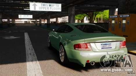 Aston Martin Vanquish 2001 for GTA 4 back left view