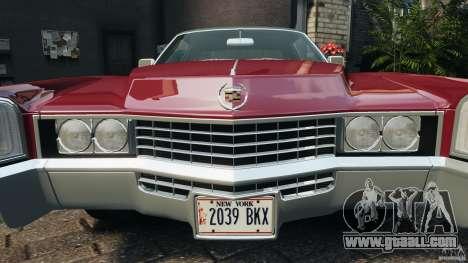 Cadillac Eldorado 1968 for GTA 4 wheels