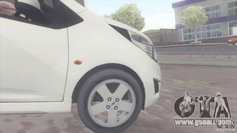 Chevrolet Spark 2011 for GTA San Andreas right view