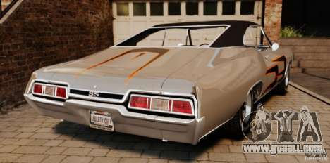 Chevrolet Impala 427 SS 1967 for GTA 4 back left view