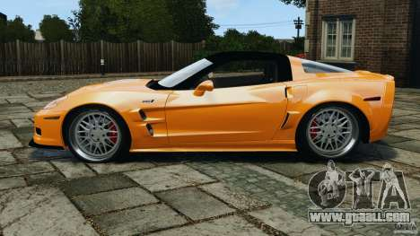 Chevrolet Corvette ZR1 for GTA 4 back view