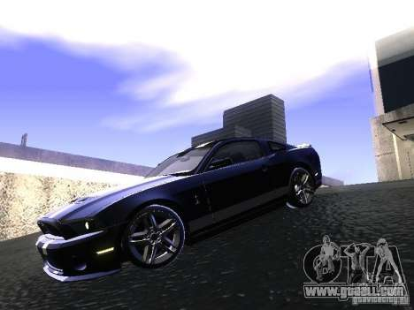 Ford Mustang Shelby GT500 for GTA San Andreas left view