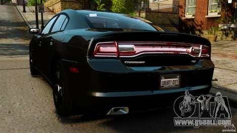 Dodge Charger RT Max FBI 2011 [ELS] for GTA 4 back left view