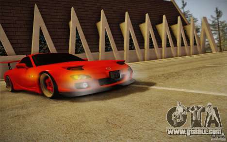 Mazda RX7 Hellalush V.2 for GTA San Andreas right view