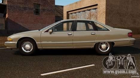 Chevrolet Caprice 1991 for GTA 4 left view