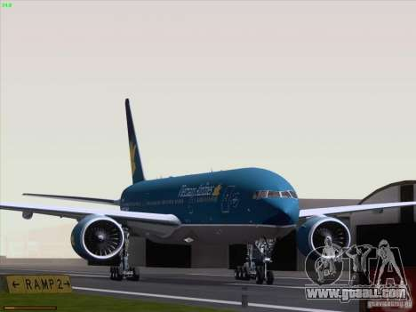 Boeing 777-2Q8ER Vietnam Airlines for GTA San Andreas left view