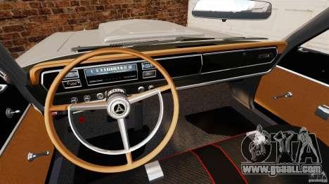Dodge Coronet 1967 for GTA 4 back view