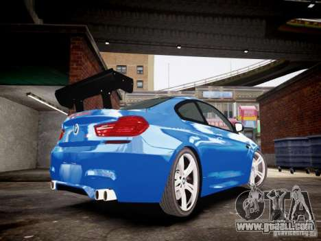 BMW M6 2013 for GTA 4 back left view