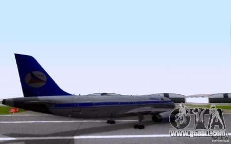 Airbus A-319 Azerbaijan Airlines for GTA San Andreas back left view