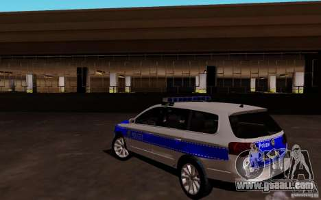 Volkswagen Passat B6 Variant Polizei for GTA San Andreas back left view
