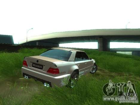 Mercedes-Benz W124 BRABUS for GTA San Andreas back left view