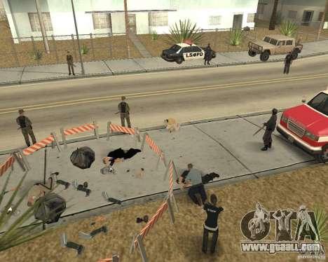 Scene of the crime (Crime scene) for GTA San Andreas