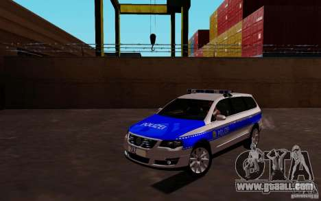 Volkswagen Passat B6 Variant Polizei for GTA San Andreas left view