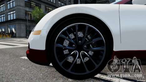 Bugatti Veyron 16.4 v1.0 wheel 1 for GTA 4 back view