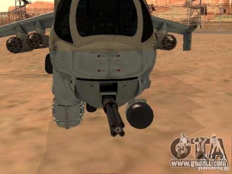 Mi-24 p for GTA San Andreas upper view