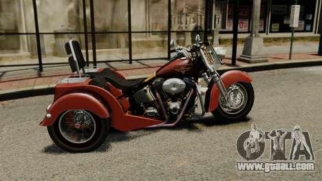 Harley-Davidson Trike for GTA 4 left view