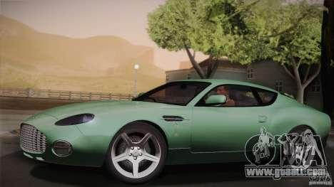 Aston Martin DB7 Zagato 2003 for GTA San Andreas bottom view