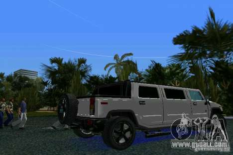 Hummer H2 SUT Limousine for GTA Vice City back left view