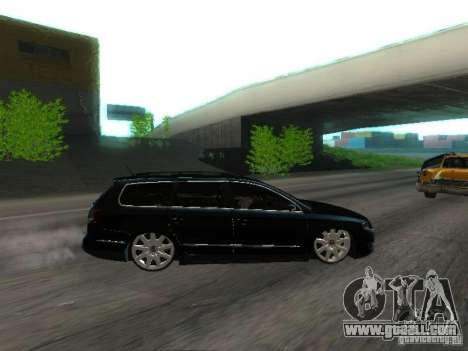 Volkswagen Passat B6 Variant Com Bentley 20 Fixa for GTA San Andreas inner view