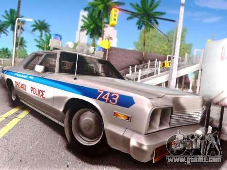 Dodge Monaco 1974 for GTA San Andreas upper view