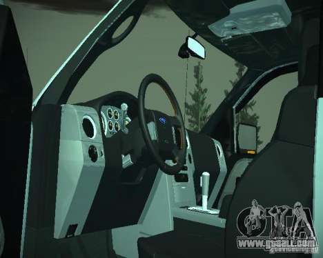 Ford F-150 EXT for GTA San Andreas inner view
