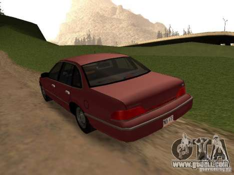 Ford Crown Victoria LX 1994 for GTA San Andreas back left view