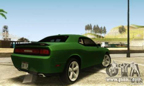 Dodge Challenger SRT-8 for GTA San Andreas back left view