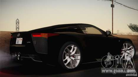 Lexus LFA (US-Spec) 2011 for GTA San Andreas left view