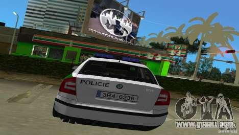 Skoda Octavia 2005 for GTA Vice City right view