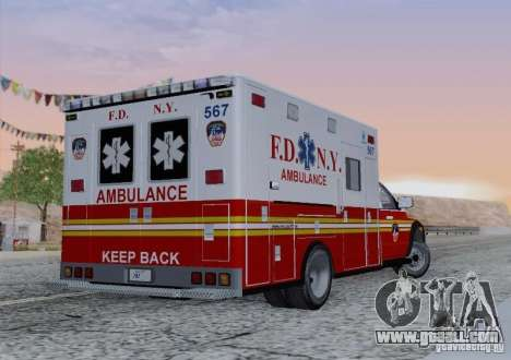 Dodge Ram Ambulance for GTA San Andreas side view