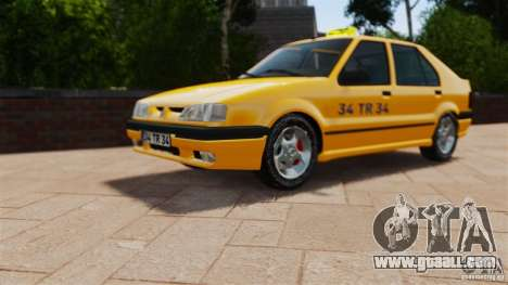 Renault 19 Taxi for GTA 4 right view