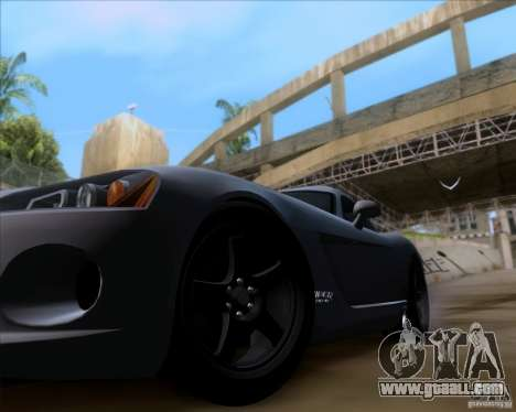 Dodge Viper SRT-10 Coupe for GTA San Andreas back view